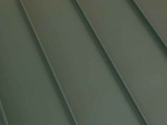 Standing seam metal roof forest green color option