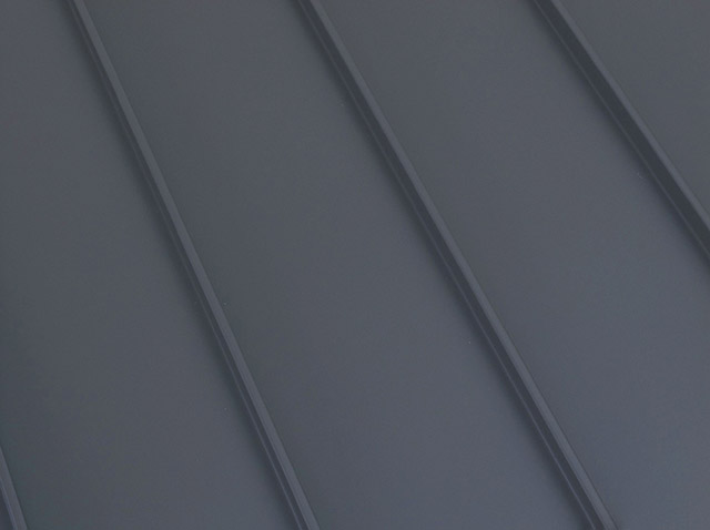 Standing seam metal roof Vermont slate color option
