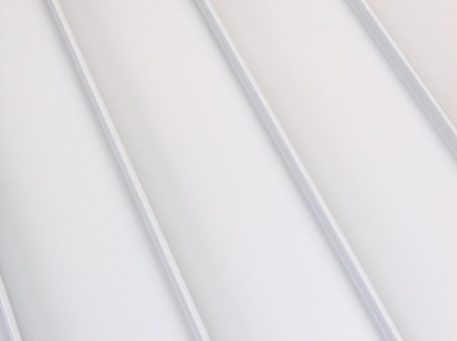 Standing seam metal roof white color option