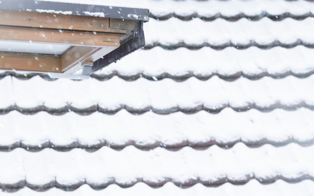 A snow-covered roof