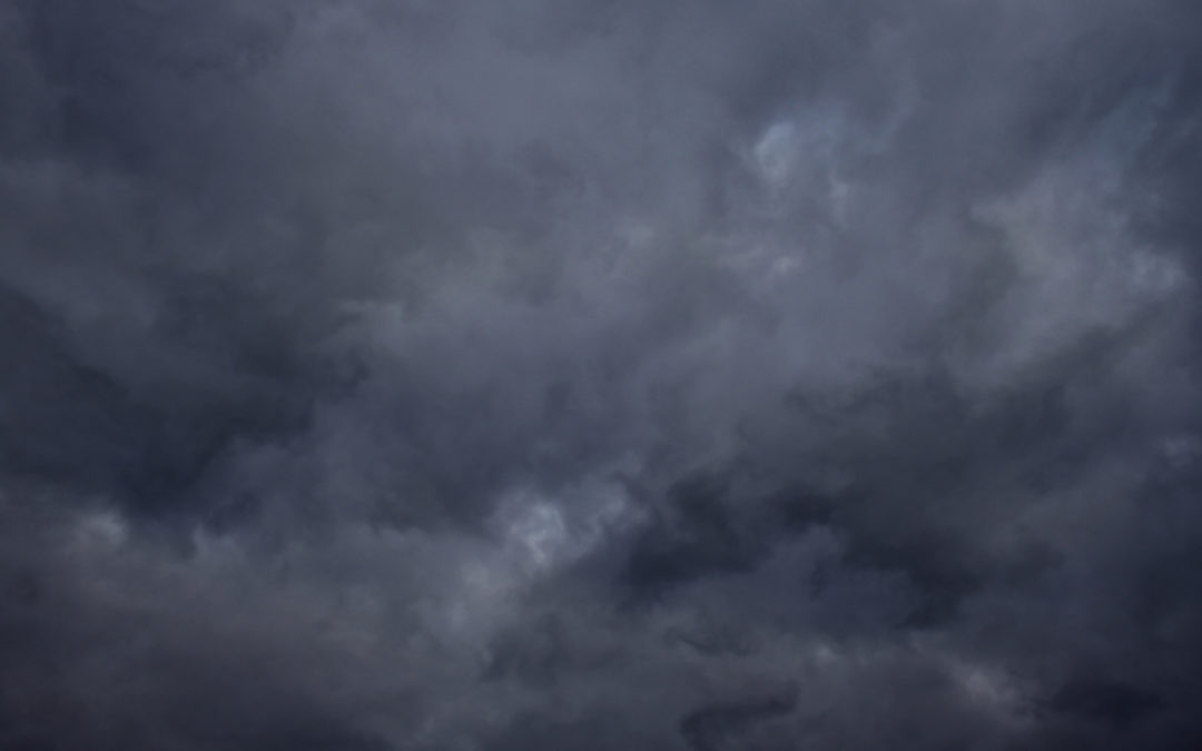 Background Picture of Natural Dark Thunder and Storm Clouds to illustrate how much wind can a metal roof withstand?