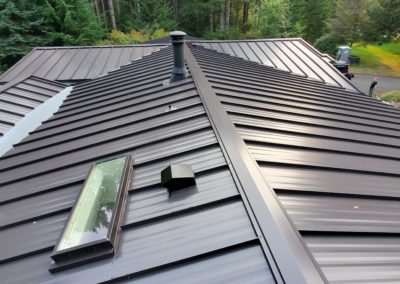 gray metal roofing system with sunlight to illustrate metal roof return on investment